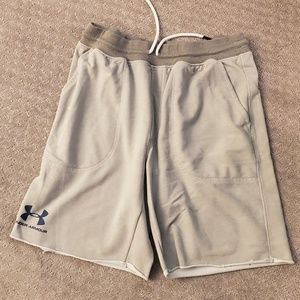 Light grey Under Armour sweat shorts